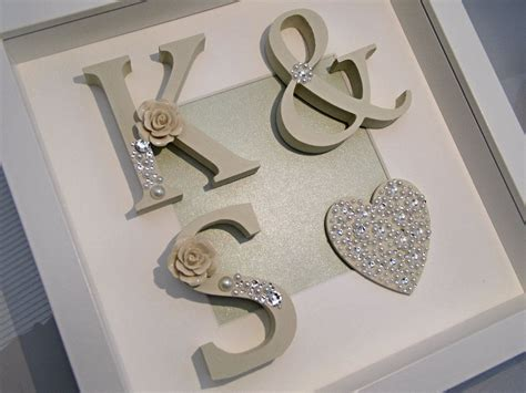 Wedding Box Frame by Wedding Initial Shadow Box Frame