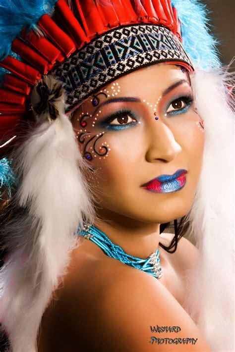 Home Halloween Decorations Native American Women Makeup Native American Dress Up