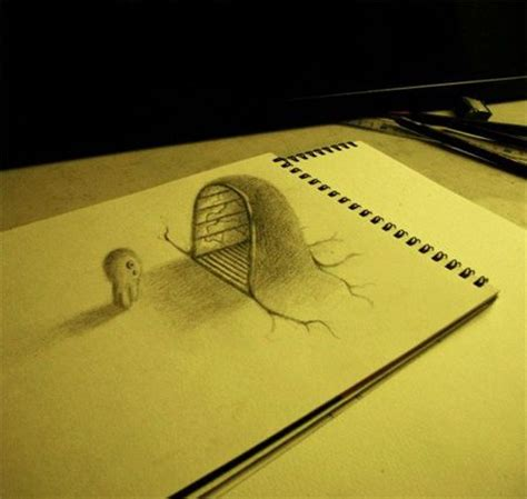 How To Make 3d Sketch On Paper - 1607 best trompe l oeil hyperrealisme images on