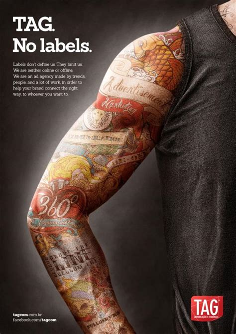 tattoo advertising tag quot quot print ad by tag comunicacao de tendencia