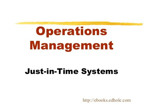 Mba In Systems And Operations by Mba Ebooks Edhole
