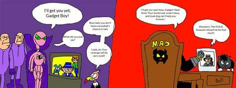 inspector gadget name gadget boy vs inspector gadget by lucifertheshort on