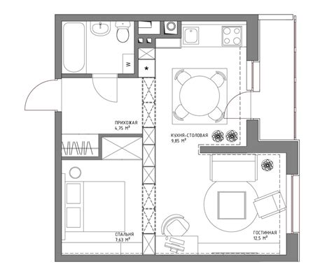 500 square meter living small with style 2 beautiful small apartment plans
