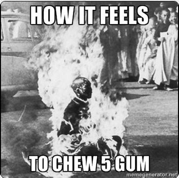 5 Gum Meme - how it feels to chew 5 gum know your meme