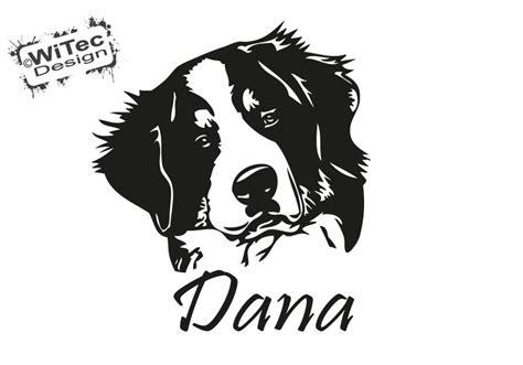 Autoaufkleber Hund F Hrt Mit by Berner Sennenhund Name Aufkleber Autoaufkleber