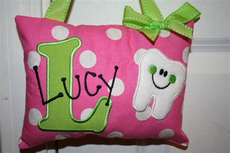 Personalised Tooth Pillow by Tooth Pillow For Personalized Polka By