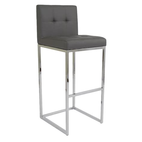 Gray Counter Stool by Chrome Plated Counter Stool Grey Buy Faux Leather