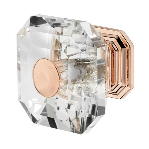 rose gold cabinet hardware wisdom stone clubhouse 1 5 16 in rose gold with clear