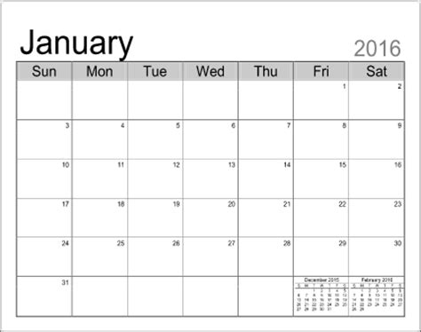 template for a calendar printable calendar templates