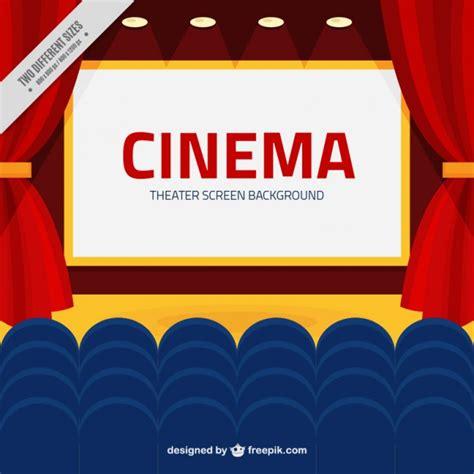 fondo cinema fondo de pantalla de cine con butacas azules descargar vectores gratis