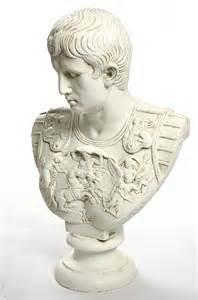 Ceramic Wall Pocket Vases Augustus Primaporta Roman Emperor Torso Emperor Bust