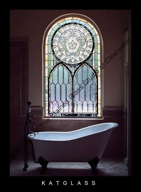 stained glass bathroom window custom designed stained glass bathroom windows