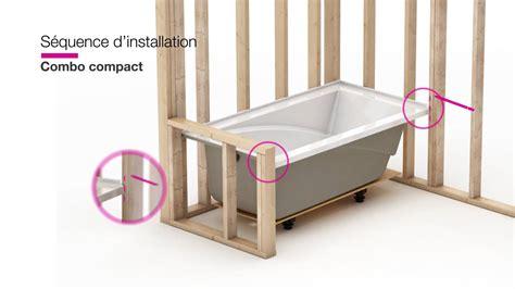 installation baignoire maax modulr installation d un combo et baignoire