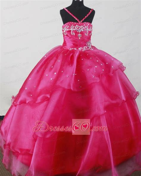 little girl beauty pageant dresses ball gown dresses for girls beautiful straps fuchsia
