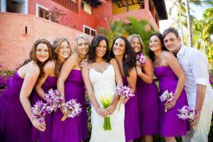 bridesmaid colors purple bridesmaid dresses