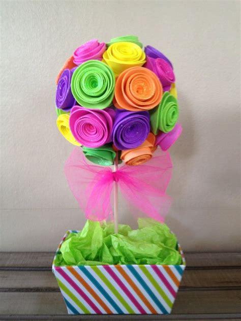 imagenes de flores grandes de foami centro de mesa con rosas de foami