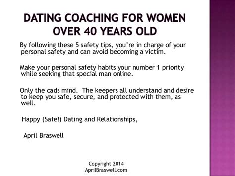 5 Important Tips For Safe Dating by Dating Coach For After 40 Top 5 Tips To