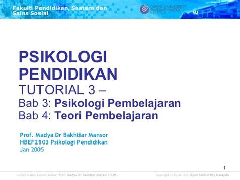 Psikologi Pendidikan Jilid 3 hbef2103 t3 psikologi pendidikan