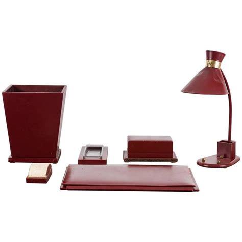 Decorative Desk Accessories Sets by Jacques Adnet Desk Set For Sale At 1stdibs