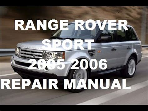 how to download repair manuals 2006 land rover range rover on board diagnostic system range rover sport 2005 range rover sport 2006 repair manual youtube