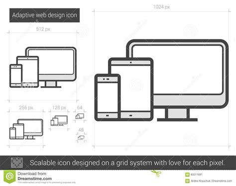 html adaptive layout adaptive website vector illustration cartoondealer com