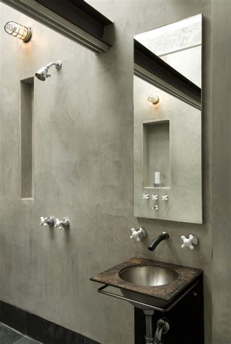 concrete bathrooms warm and modern designs featuring concrete
