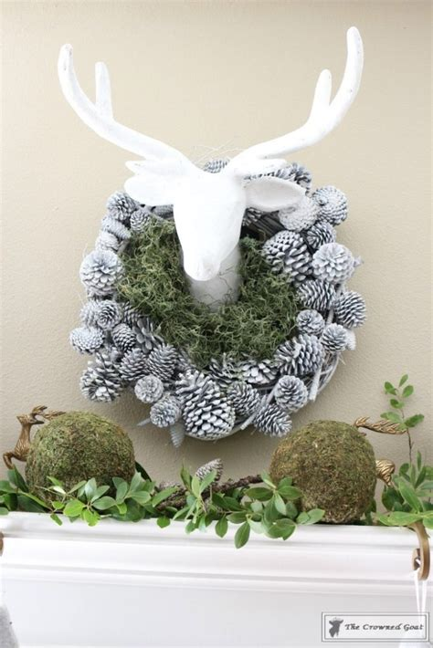 nature themed christmas tree nature inspired mantel and tree the crowned goat