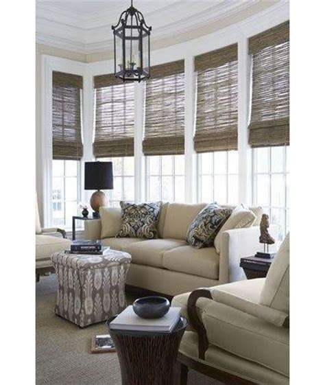 beach house window treatments woven wood shades sunroom ideas pinterest