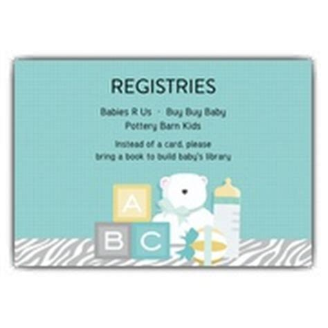 baby shower registry cards template free baby shower registry inserts template baby registry