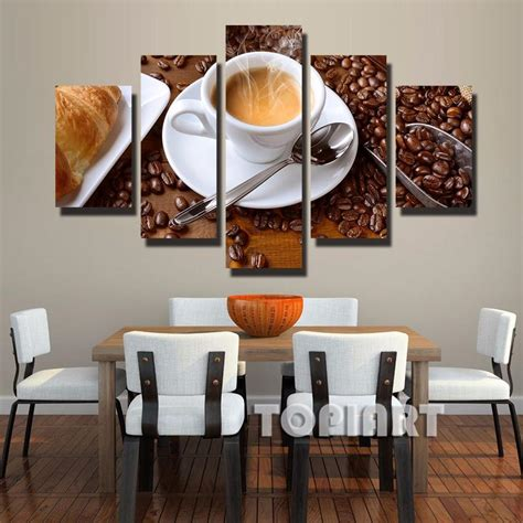framed wall art for dining room 3 piece home design 5 piece canvas art steaming coffee cup pictures on the