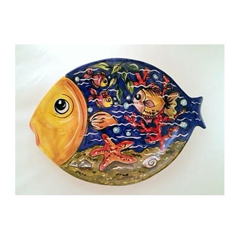 piatti di portata piatto pesce ceramica artistica sorrentina