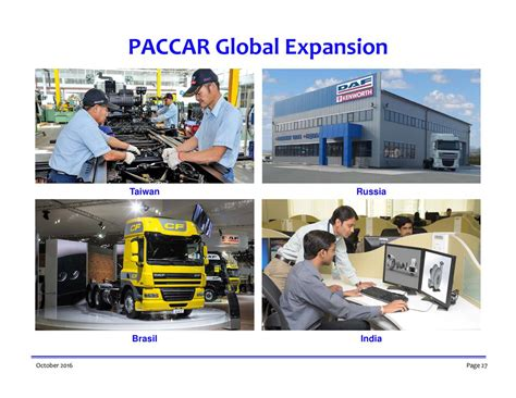 paccar inc paccar inc 2016 q3 results earnings call slides