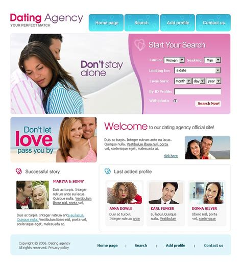 Dating Website Template Web Design Templates Website Templates Download Dating Website Dating Website Template