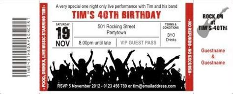 Rock Concert Concerts And Ticket On Pinterest Concert Invitation Template