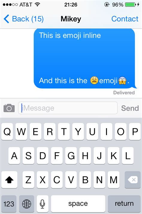 emoji text objective c ios sharing images with text in messages