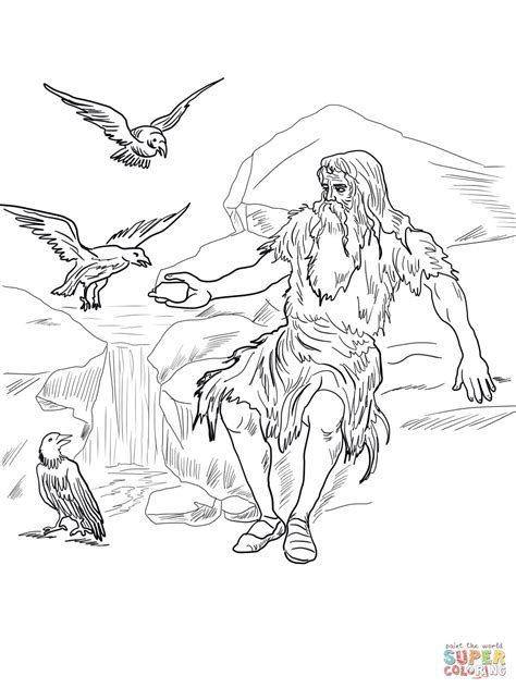 free bible coloring pages elijah birds feed elijah coloring page free printable coloring