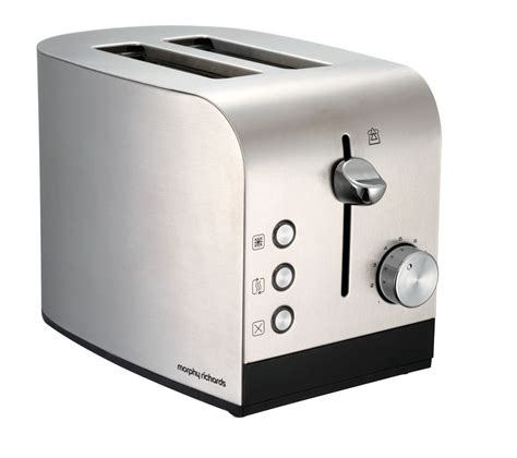Stainless Steel 2 Slice Toaster Buy Morphy Richards Equip 44208 2 Slice Toaster Brushed