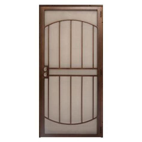 Metal Security Doors by Unique Home Designs 36 In X 80 In Arcada Copper Surface