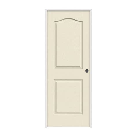 Jeld Wen Prehung Interior Doors Jeld Wen 30 In X 80 In Molded Smooth 2 Panel Eyebrow Primed White Solid Composite Single