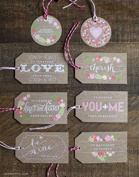 printable gift tags for valentines printable valentine s day gift tags