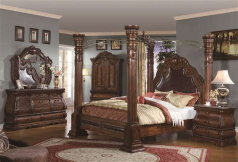 poster bedroom set 5 pc b6200 calidonian poster bedroom set