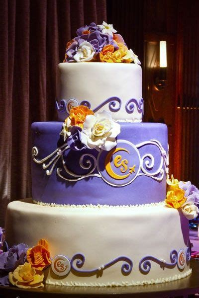 gorgeous purple  orange cake wedding cakes juxtapost