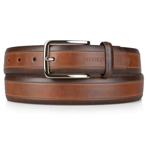 hilfiger mens two tone genuine leather belt ebay