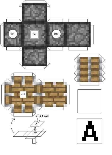Minecraft Papercraft Models - papercraft automation piston
