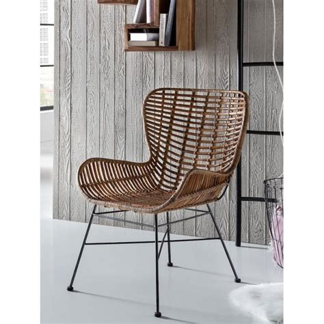 Rattan Wingback Chair   Smithers of Stamford