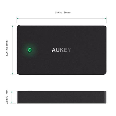 Aukey Power Bank 20000mah 2 Port Qc 20 Pb T5 Black aukey power bank 20000mah 2 port charge 2 0 pb y1