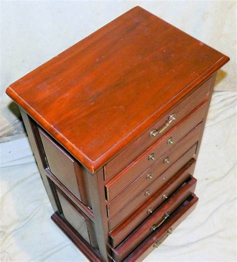 slim chest of drawers depth 30cm a reproduction mahogany narrow chest of drawers having 7 x
