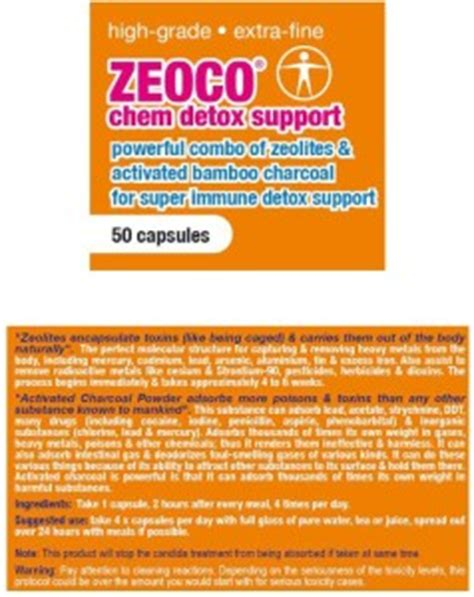 Mercury Detox Charcoal by Zeoco Candida Die Support Ccws Candida Cleanser