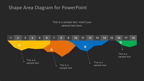 Dark Infographics Area Chart Template For Powerpoint Graph Templates For Powerpoint