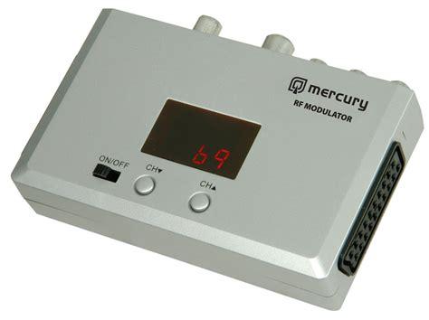 Modulator Tv Digital mercury universal rf modulator convert scart to coax cctv tv aerial ebay